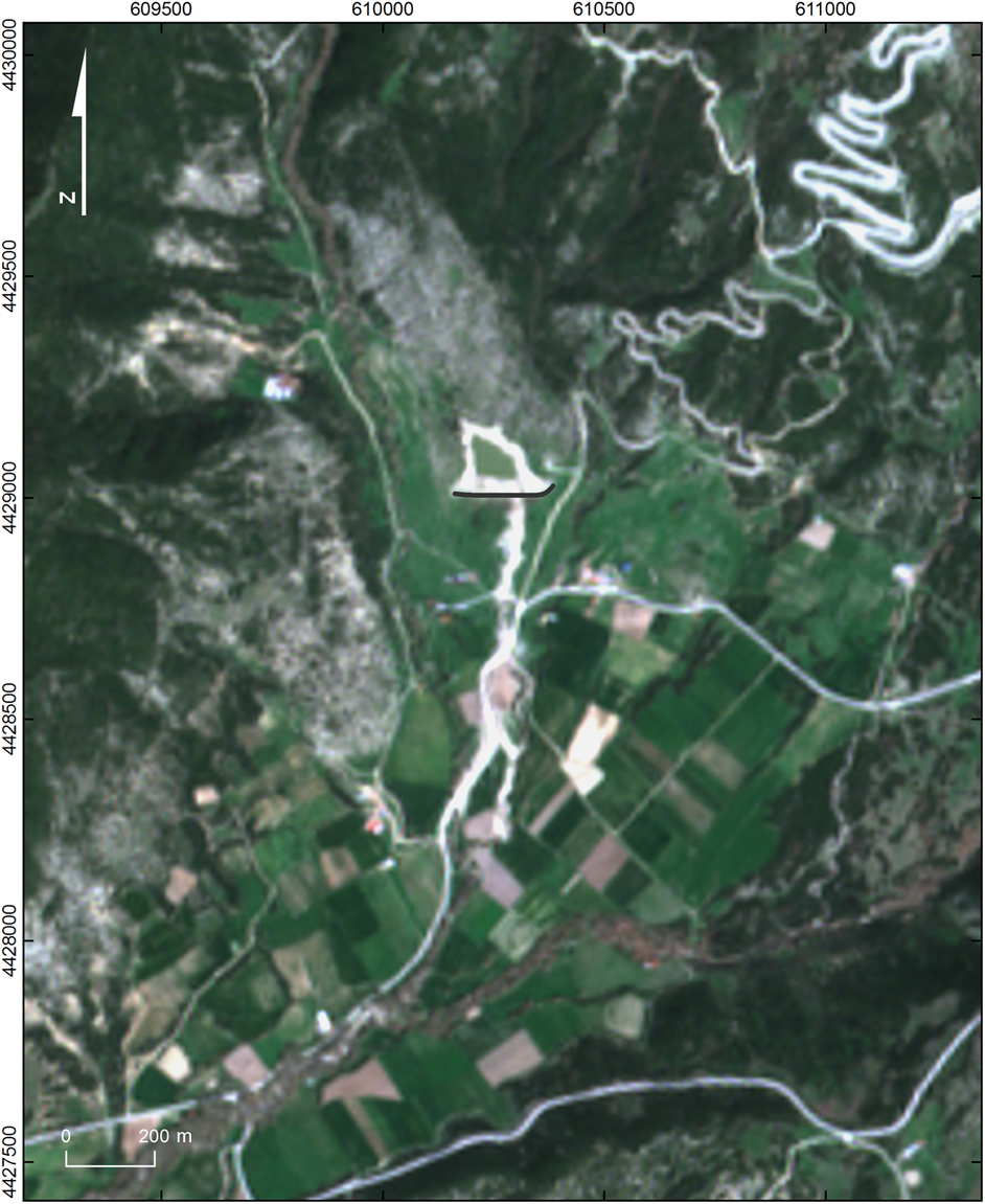 Impact of dam failure-induced flood on road network using