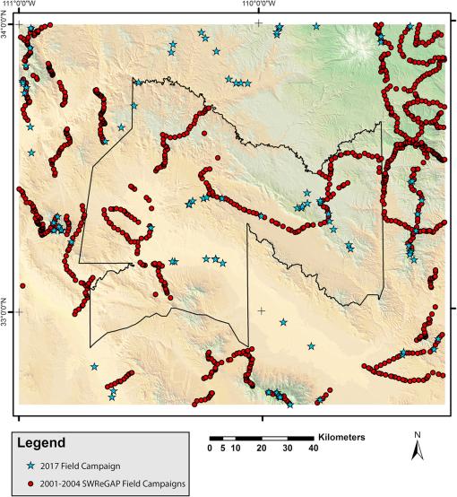Remote sensing analysis of vegetation at the San Carlos