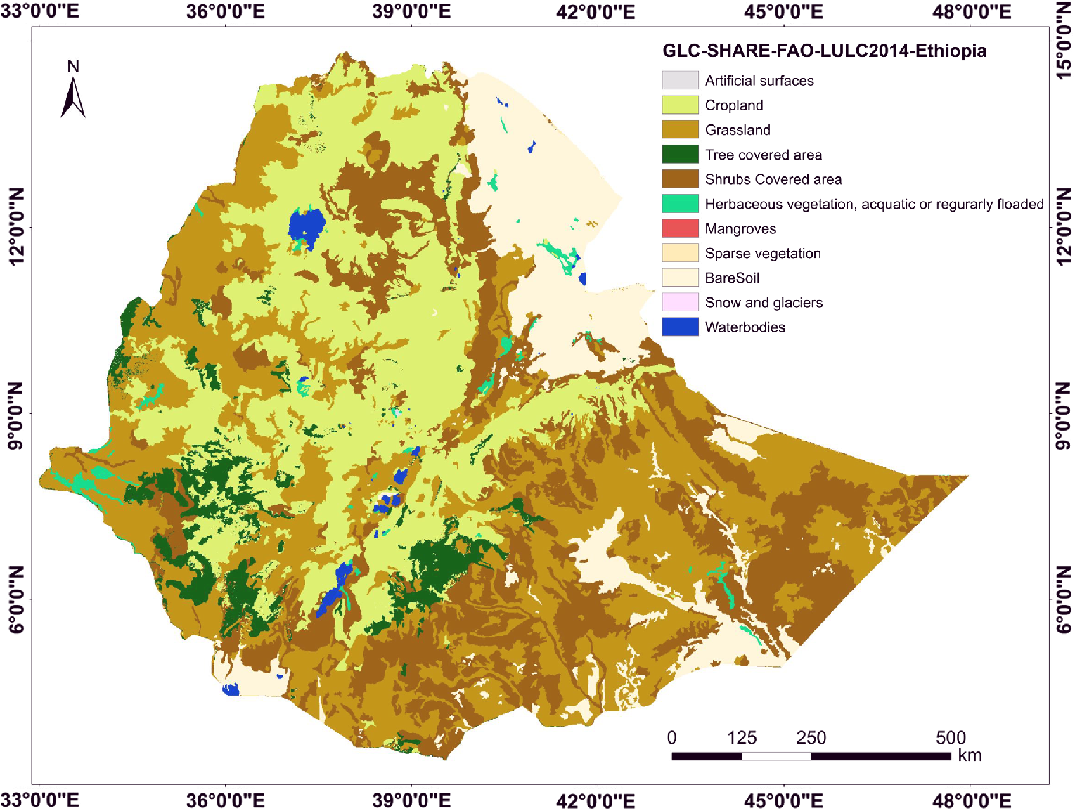 Availability of global and national scale land cover