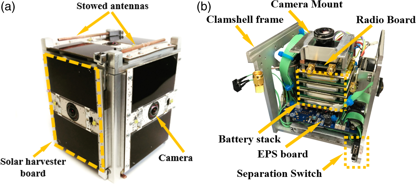 Passive CubeSats for remote inspection of space vehicles