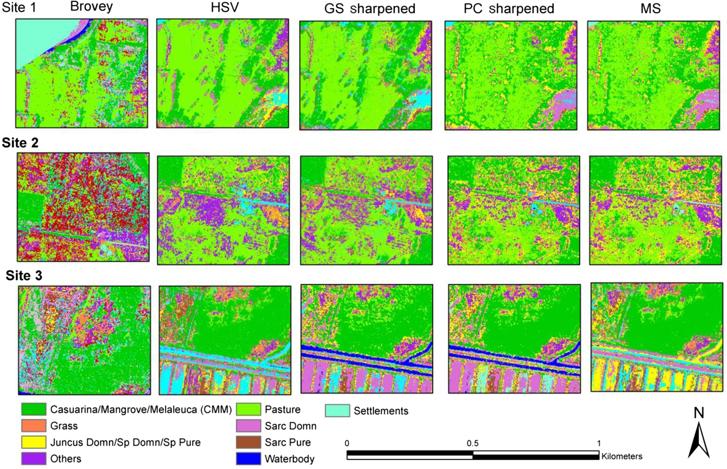 Improving image classification in a complex wetland