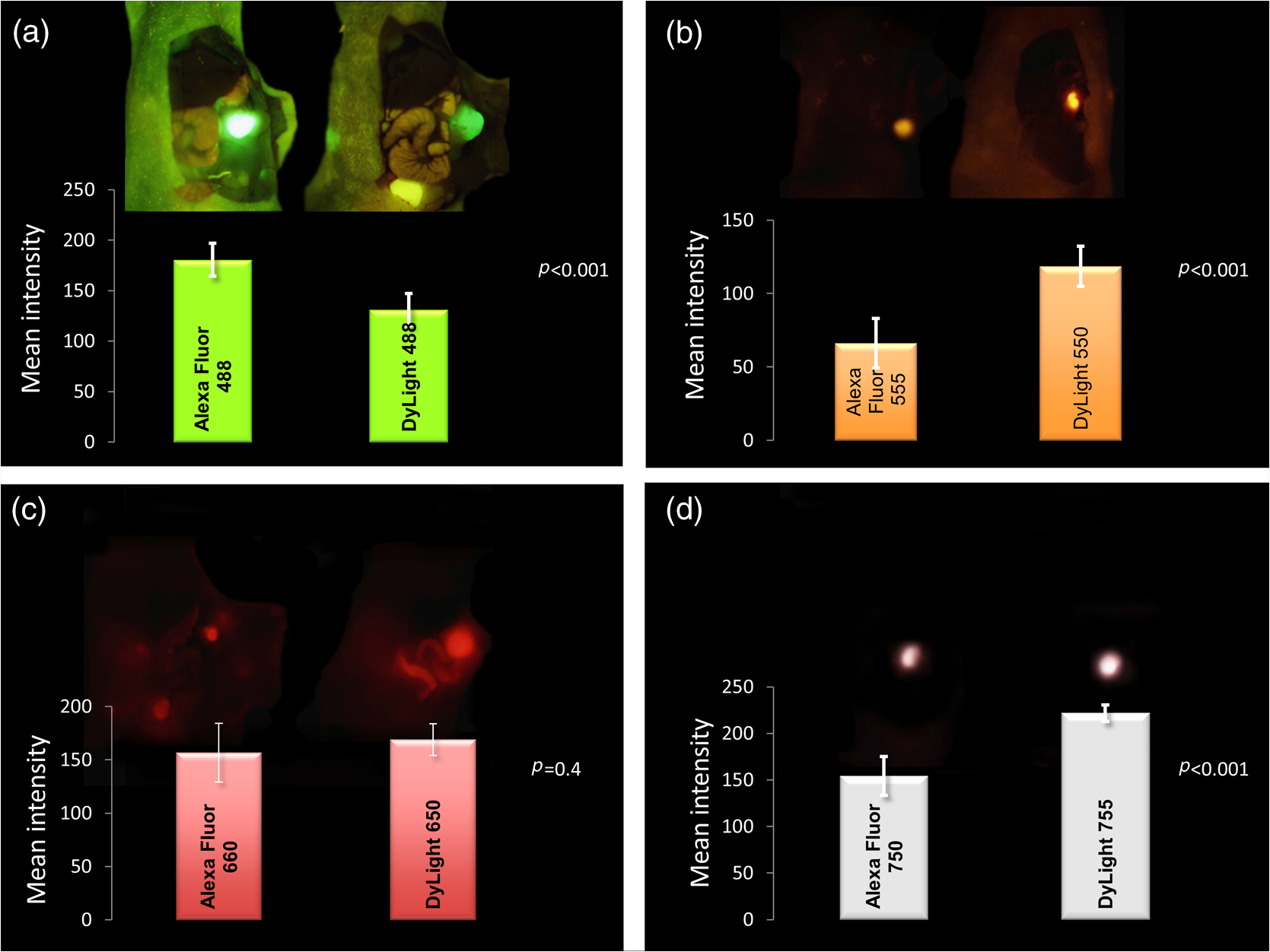 Comparison Of A Chimeric Anti Carcinoembryonic Antigen Antibody Infra Red Light Barrier Using 555 Note The Decreasing Ability To Discern Background With Increasing Wavelength Ad