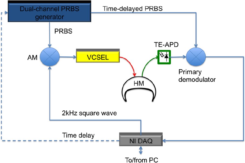 Spread spectrum time-resolved diffuse optical measurement system for