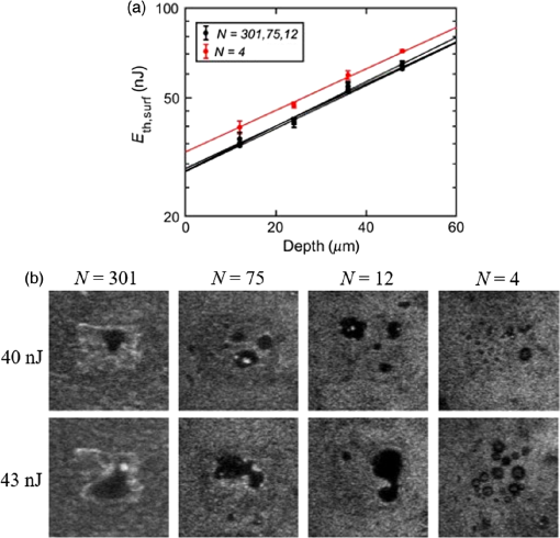 Scattering properties and femtosecond laser ablation