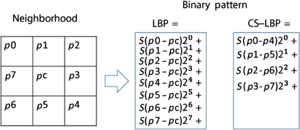 Local binary pattern variants-based adaptive texture features