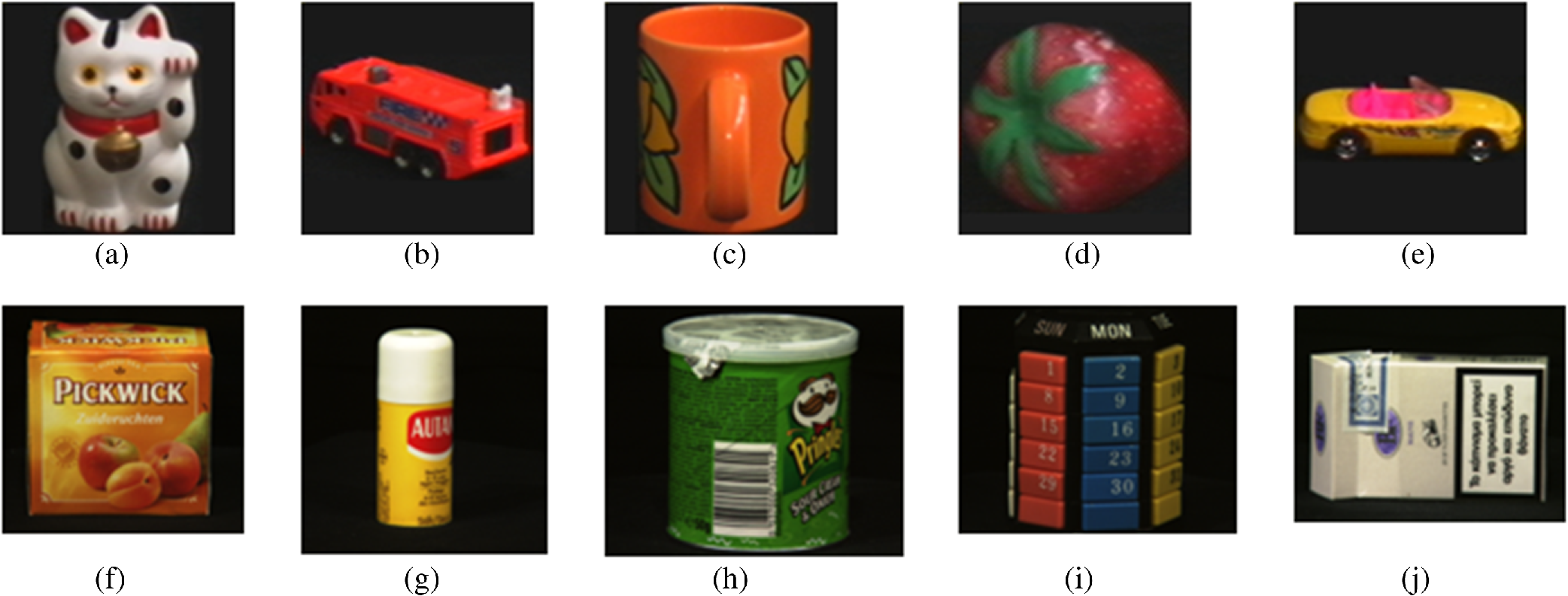 Sparsely encoded distinctive visual features for object