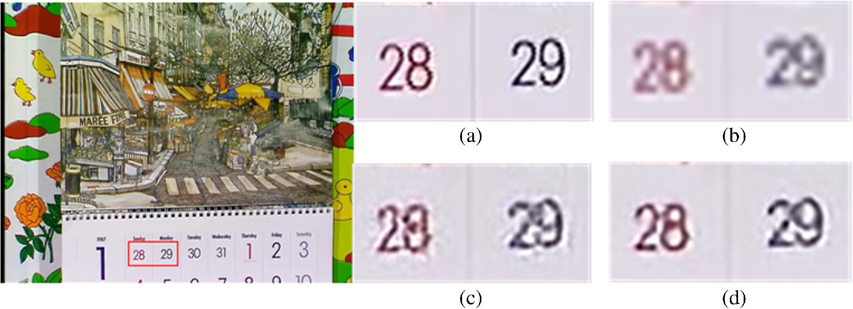 Structure-preserving video super-resolution using three