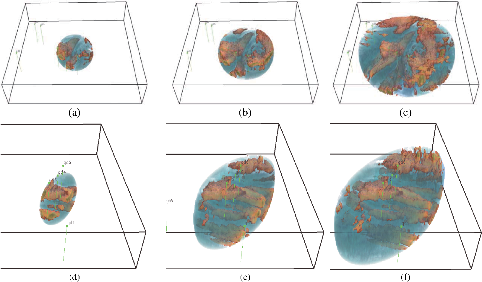 Interactive geological visualization based on quadratic-surface