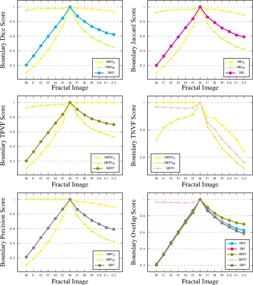 Family of boundary overlap metrics for the evaluation of medical