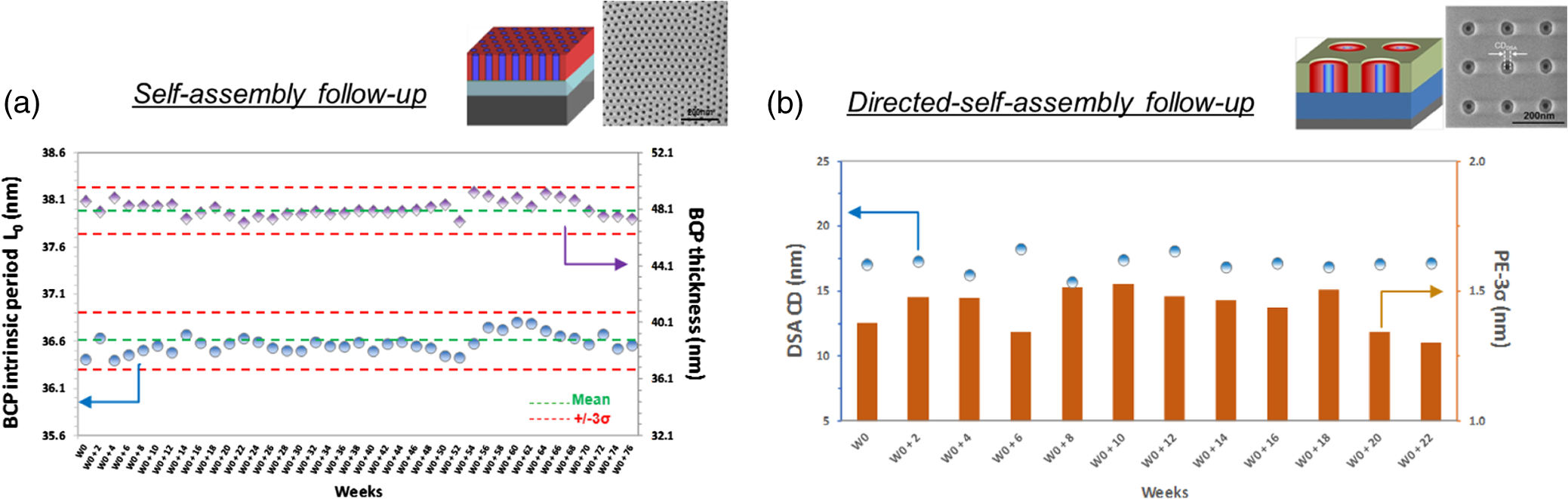 Process highlights to enhance directed self-assembly contact