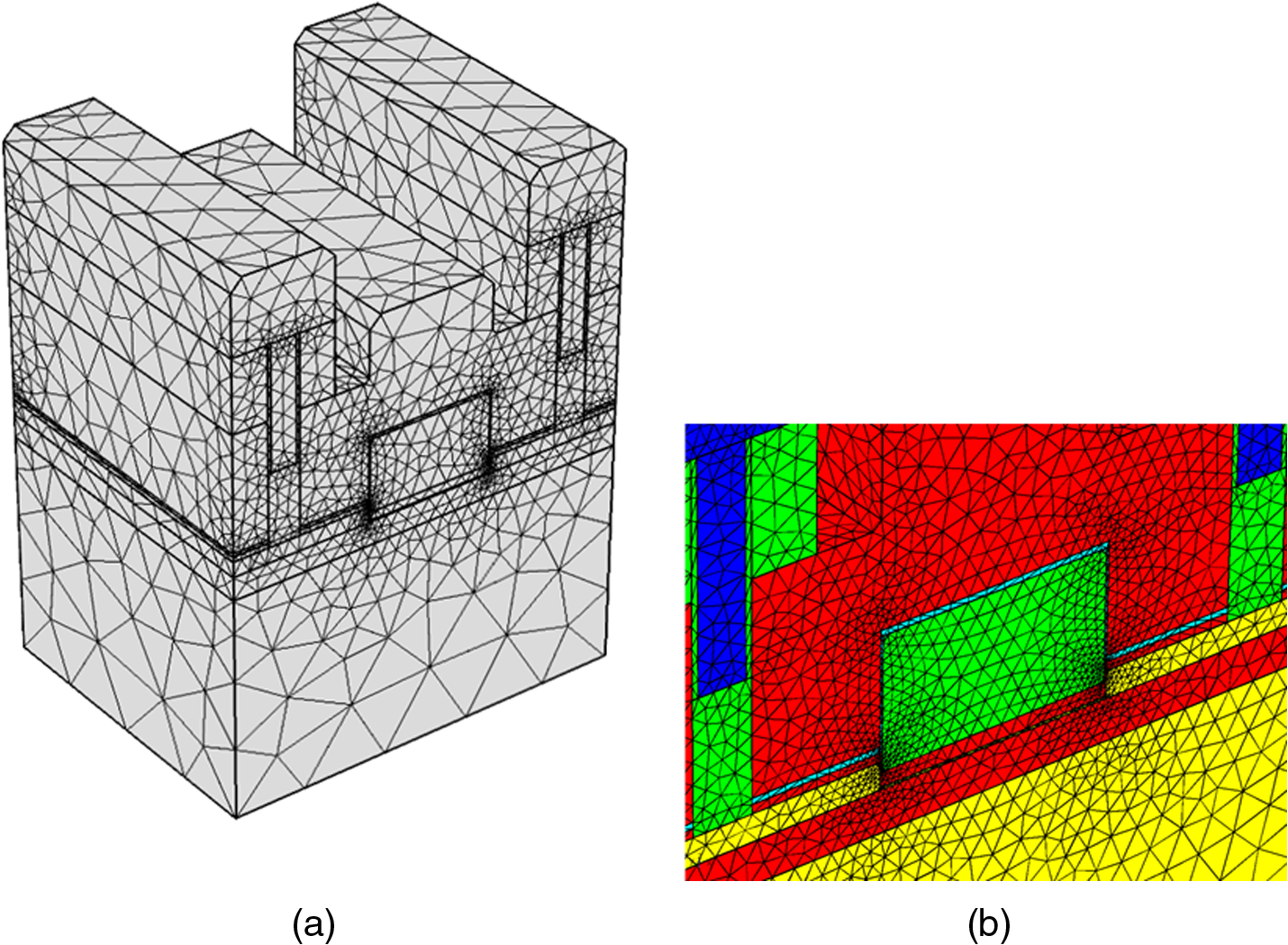 Electrical control simulation of near infrared emission in