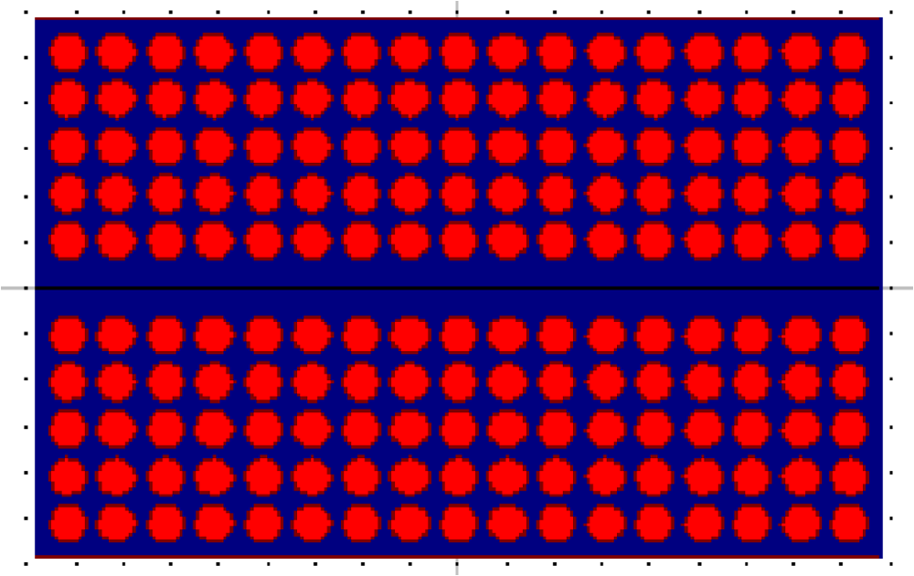 Simulation of magneto-optical properties of magnetic photonic