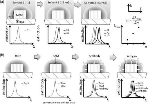 lithographied nanostructures as nanosensors