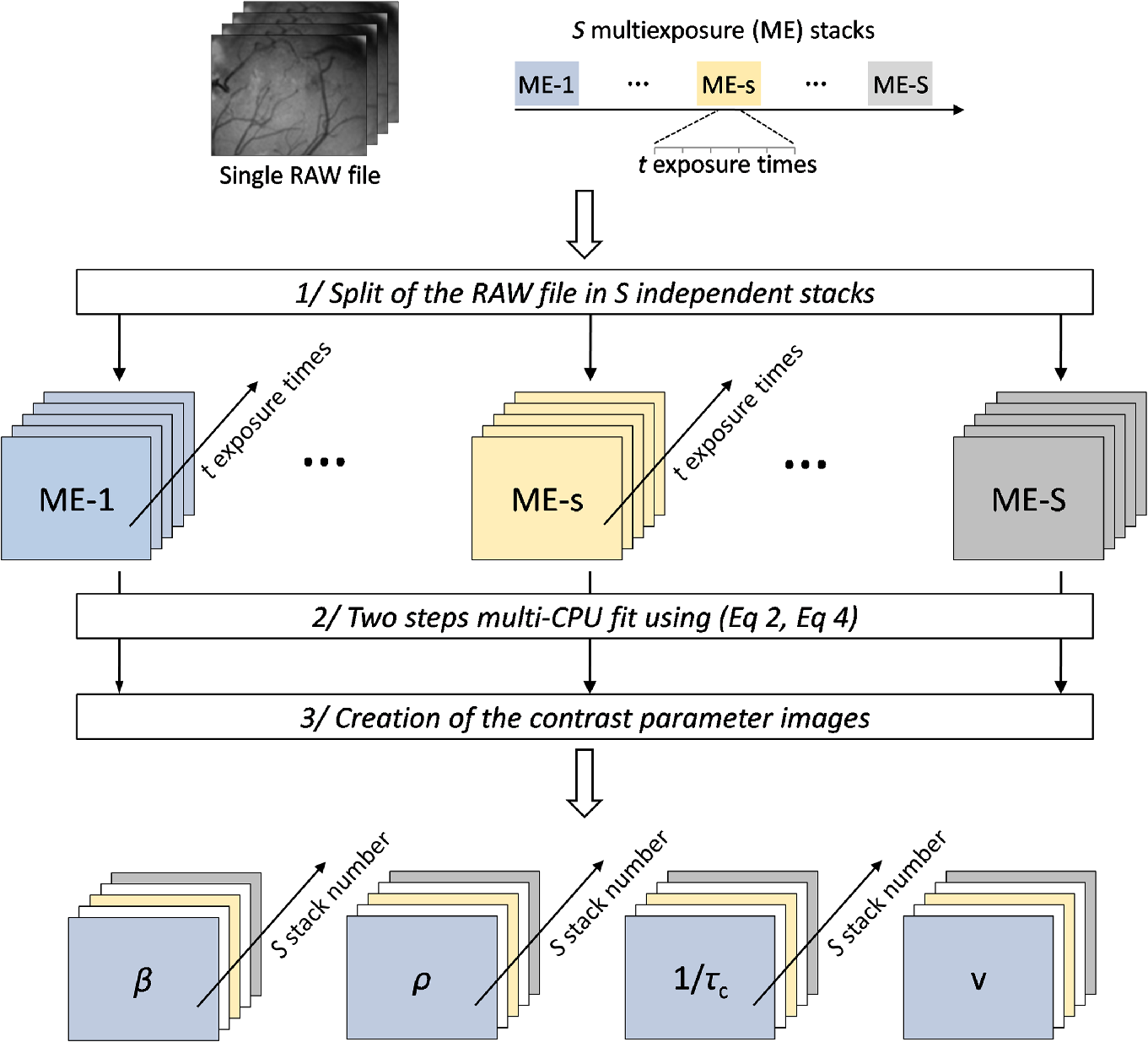 Multiple speckle exposure imaging for the study of blood flow