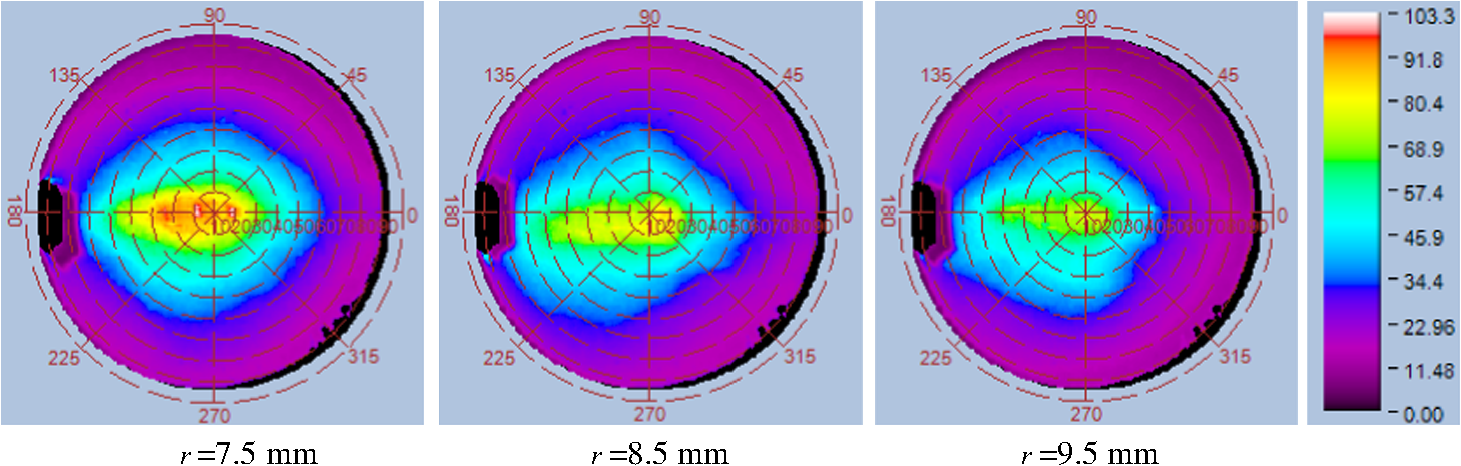 Backlight units based on light extraction from a curved optical fiber