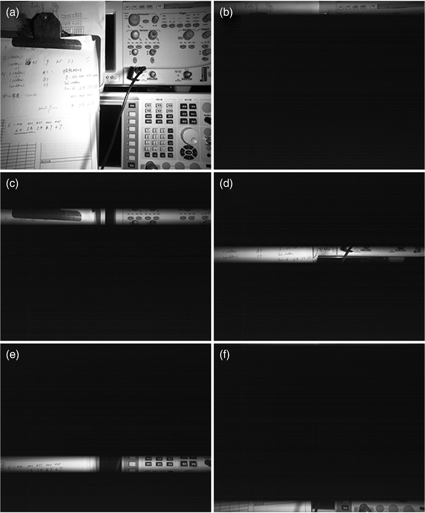 Laser Line Scan Underwater Imaging By Complementary Metaloxide Two Way 12 Led Running Lights Using Cd4017 And Ne555 A Measurement Of The Rolling Shutter Period Via Images Captured Under Continuous Lighting Short Light Pulse Following Cameras Trigger