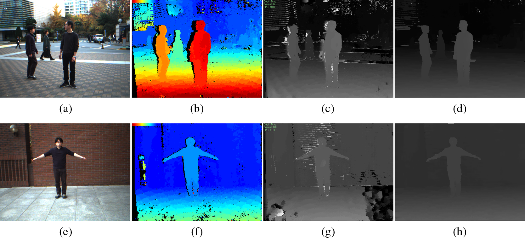 Near-real-time stereo matching method using both cross-based support