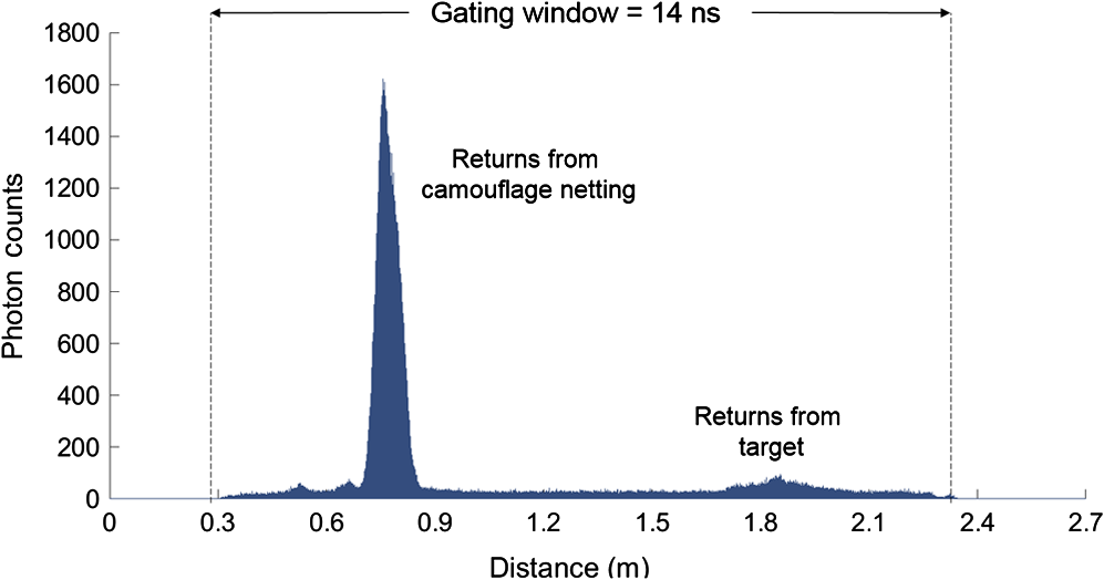 Long-range depth profiling of camouflaged targets using