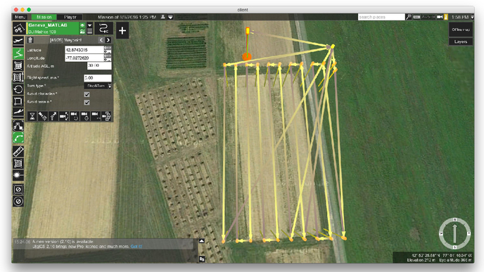 Automatic mission planning algorithms for aerial collection