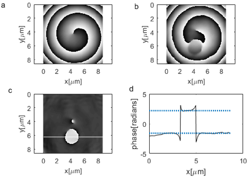 Optical vortex microscope with the simple phase object: theoretical