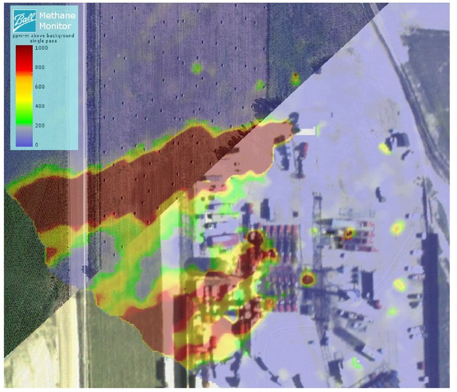 Wide area methane emissions mapping with airborne IPDA lidar
