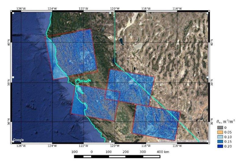 Creating soil moisture maps based on radar satellite imagery