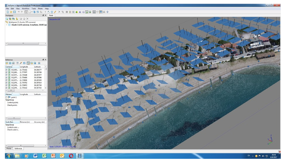 Coastal areas mapping using UAV photogrammetry