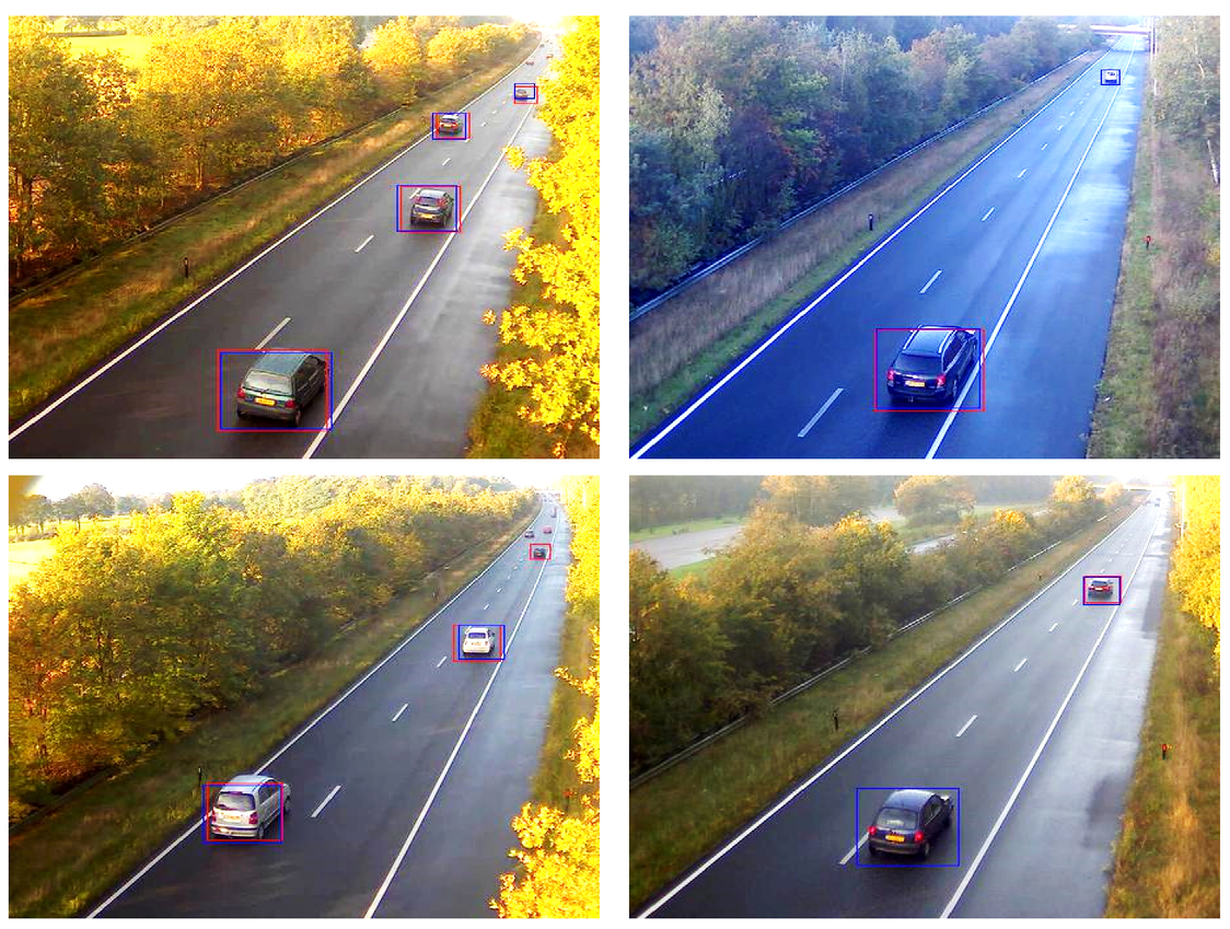 Optimizing a neural network for detection of moving vehicles in video