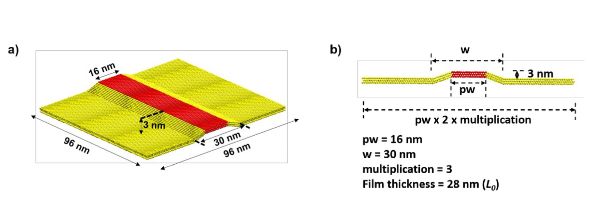 Evaluation of line-edge/line-width roughness of directed self