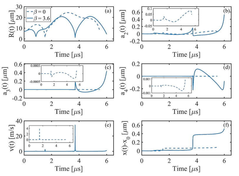 Investigation of bubble dynamics in nonlinear acoustic field