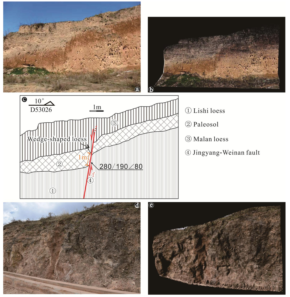 Application of backpack Lidar to geological cross-section
