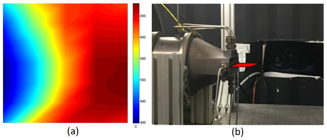 Infrared signature measurements of a jet turbine using a