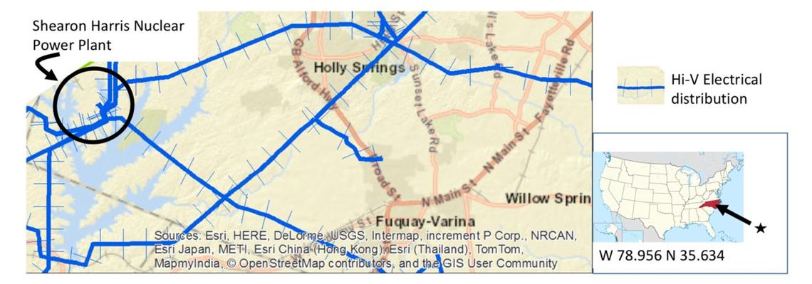 Ground vehicle power line spectral sensing using GIS