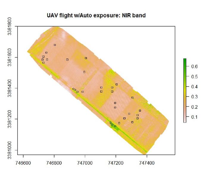 Quality assessment of radiometric calibration of UAV image mosaics