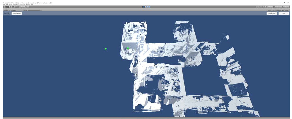 Augmented reality integration of fused LiDAR and spatial mapping