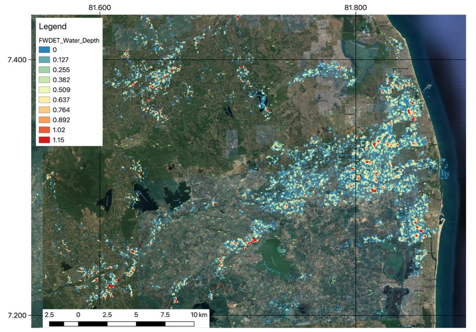 Estimating floodwater depths from flood inundation maps and topography