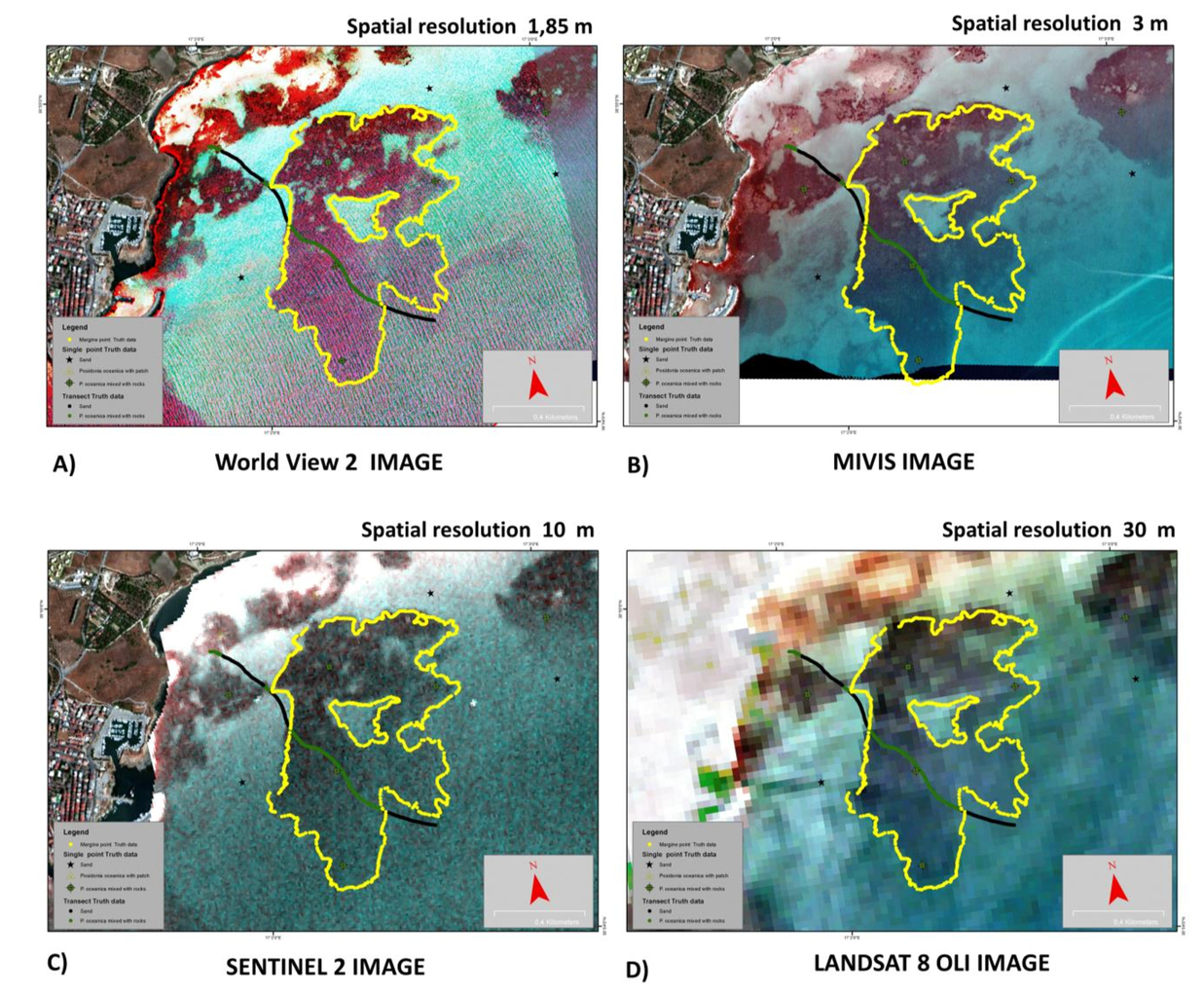 Comparison of Sentinel-2 and Landsat-8 OLI satellite images