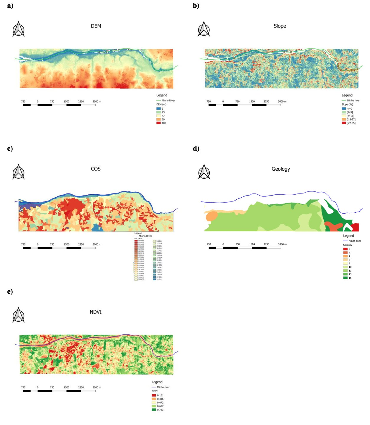 GIS and remote sensing based method to extract fluvial