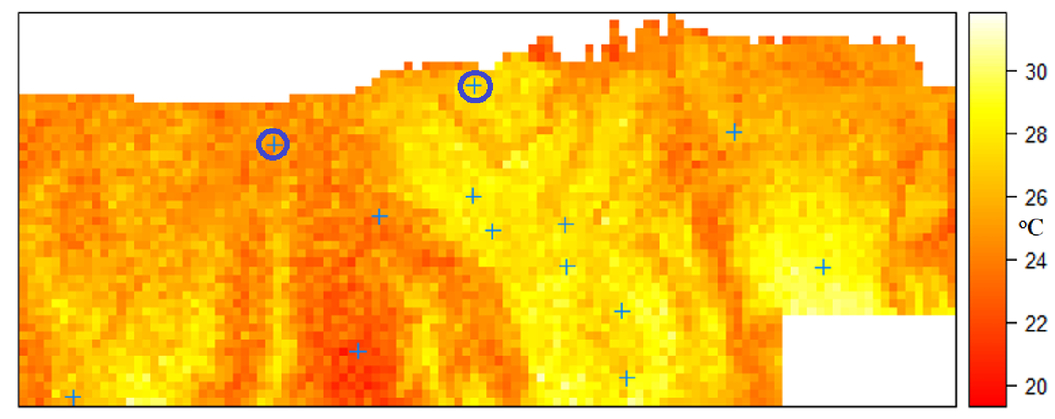 Estimation of urban air temperature spatial patterns based