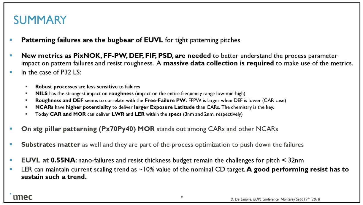 State-of-the-art of EUV materials for N5 logic and DRAM