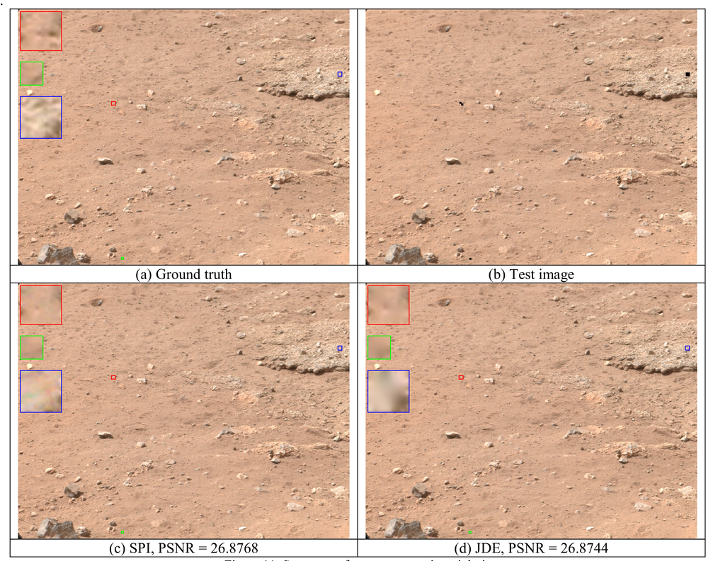 Perceptually lossless compression of Mastcam images with error recovery