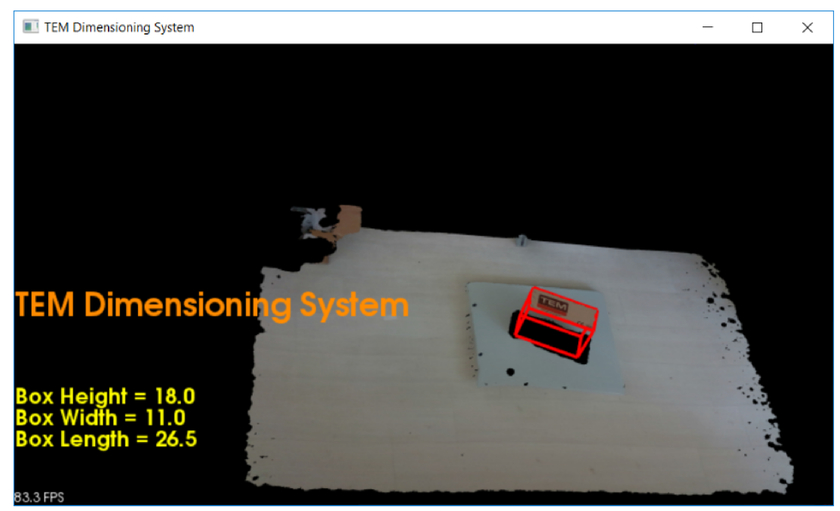 Development of a dimensions measurement system based on depth camera