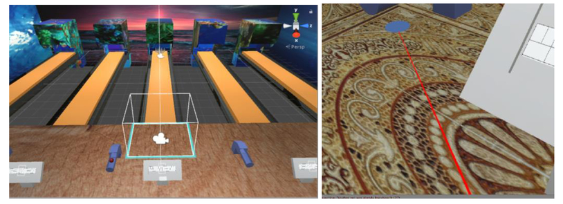 VR bowling for muscular rehabilitation