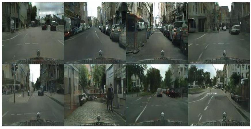 Image-to-image translation using a relativistic generative