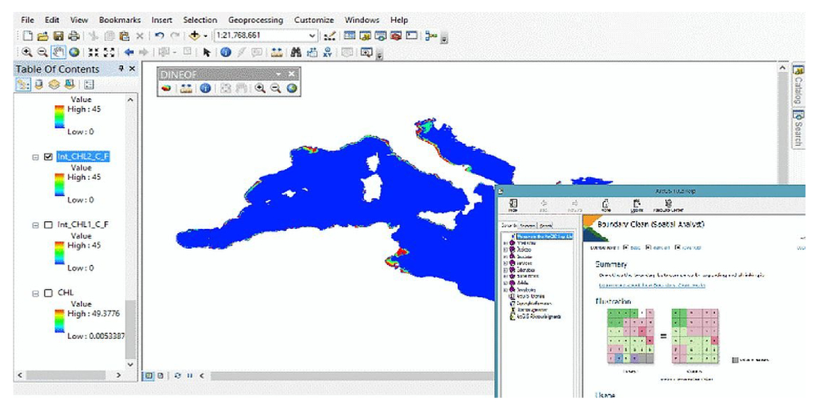 New toolbox in ArcGIS for the reconstruction of missing satellite
