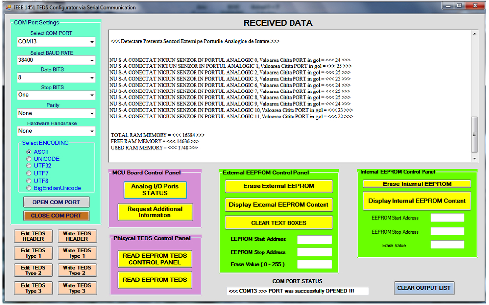 Creating a transducer electronic datasheet using I2C serial EEPROM