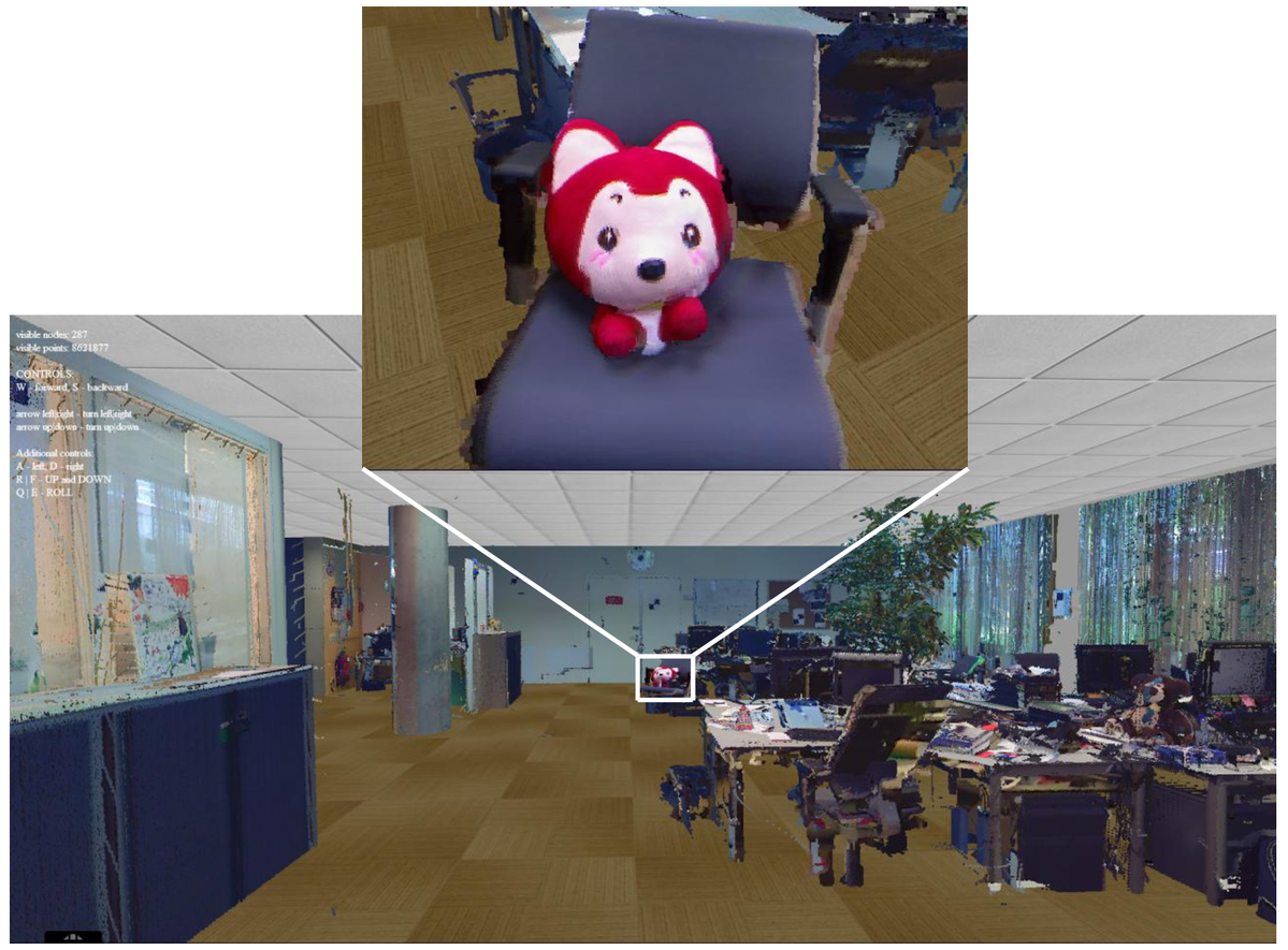 On detailed 3D reconstruction of large indoor environments