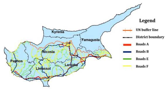 Uncertainty of OpenStreetMap data for the road network in Cyprus