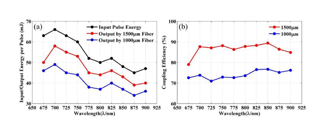 High energy laser pulse coupling in a multimode fiber for