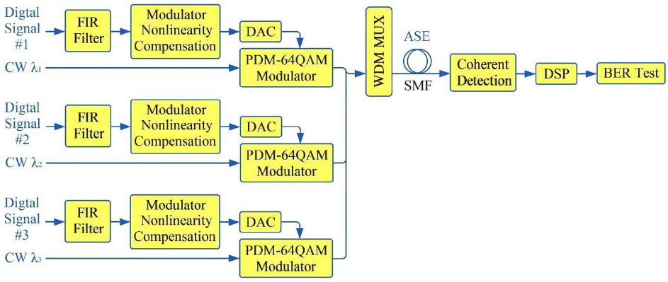 Comparison of advanced DSP techniques for spectrally efficient